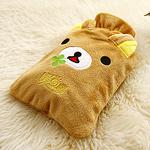 可爱卡通丝绒暖手袋 动物立体造型热水袋